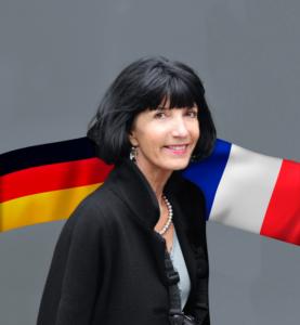 Martine Mérigeau, drapeau France, drapeau Allemagne